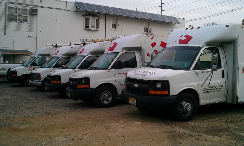 Runnemede has a full fleet ready to service your heating, plumbing and electrical needs.